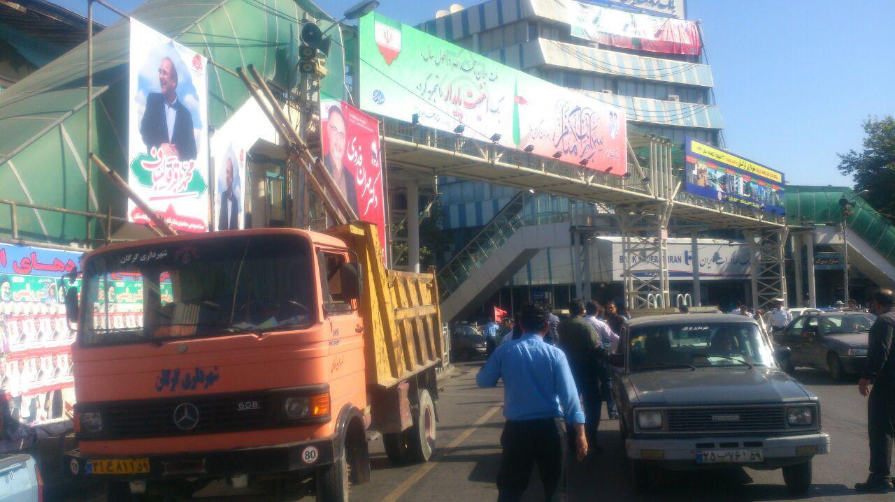 باز کردن بنرهای تبلیغاتی توسط شهرداری گرگان (4)