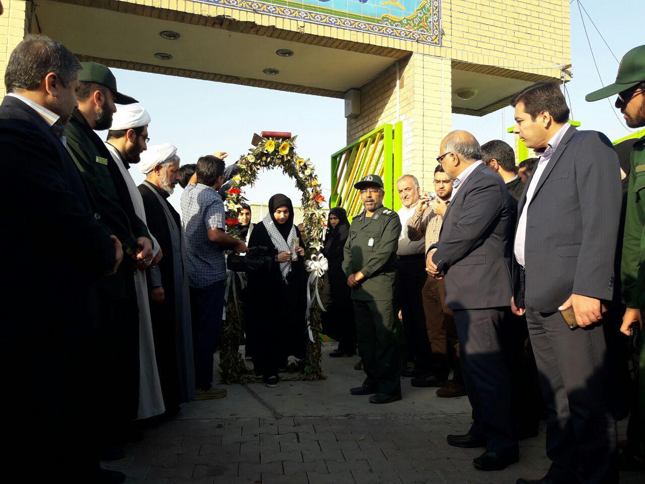 اعزام دختران دبیرستانی گرگان به مناطق عملیاتی غرب کشور5