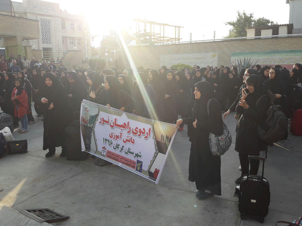 اعزام دختران دبیرستانی گرگان به مناطق عملیاتی غرب کشور1