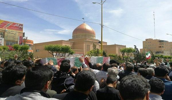 بی نظیر مردم از تشییع شهید مدافع حرم 2