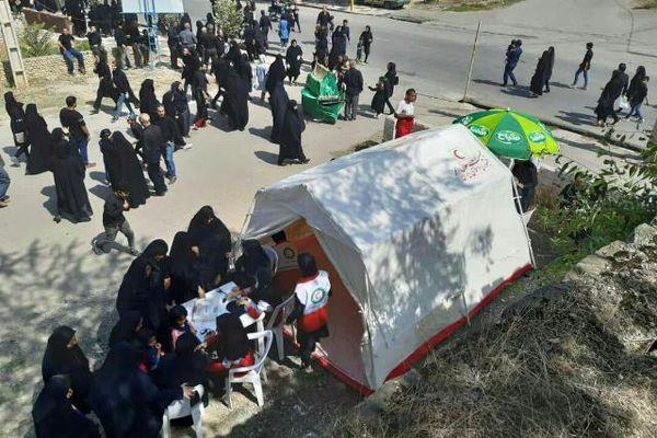 بهره مندی ۱۰۰۰ نفر از خدمات جمعیت هلال احمر گلستان در عاشورای حسینی