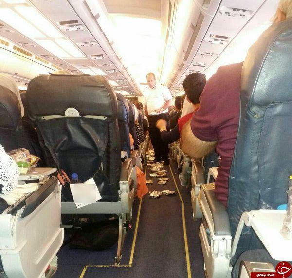 وقتی مسافران تهران-استانبول در هواپیما اعتصاب غذا می کنند+عکس