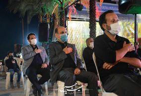 حضور استاندار گلستان دکتر حق شناس در جمع عزاداران حسینی در موکب الحسین (ع) + تصاویر