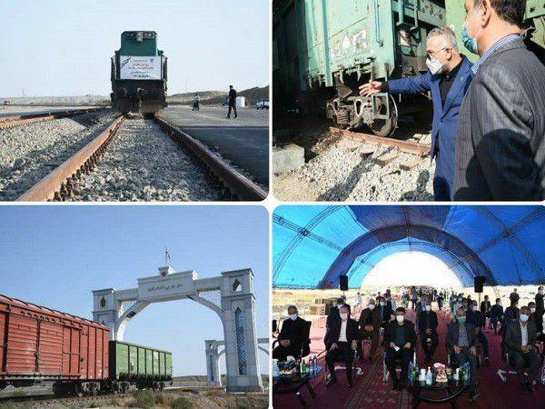 ورود نخستین قطار باری قزاقستان به گلستان