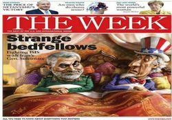 کاریکاتور سردار سلیمانی روی جلد نیوزویک