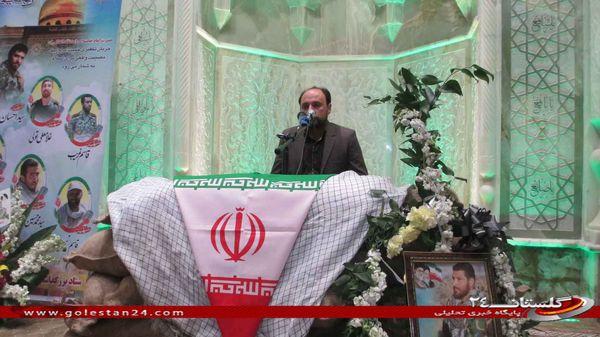 گزارش تصویری/اولین سالگرد شهادت مدافع حرم،سید احسان حاجی حتم لو