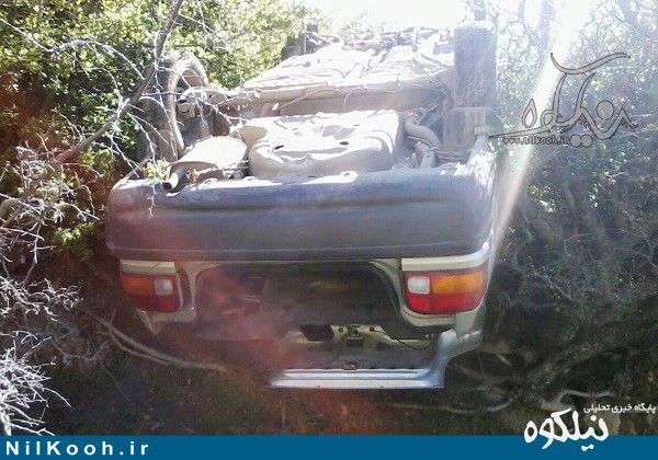 سقوط پراید به ته دره در روستای منجلو گالیکش + تصویر