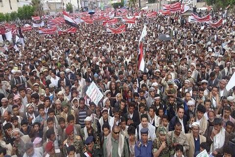 فیلم/ تظاهرات میلیونها یمنی علیه طرح شوم معامله قرن