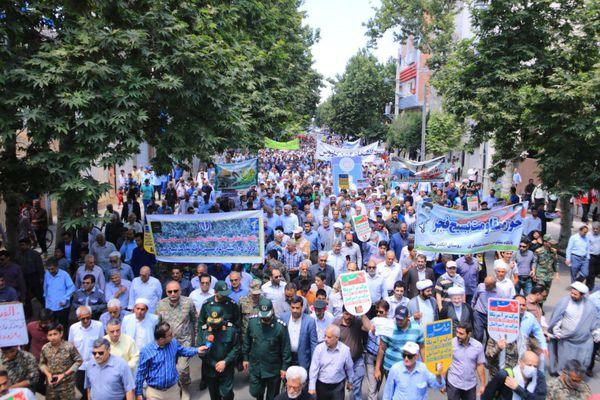 راهپیمایی باشکوه مردم شیعه و سنی گنبدکاووس در روز قدس