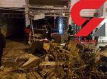 فیلم / انفجار گاز در پیتزا فروشی گنبدکاووس گلستان
