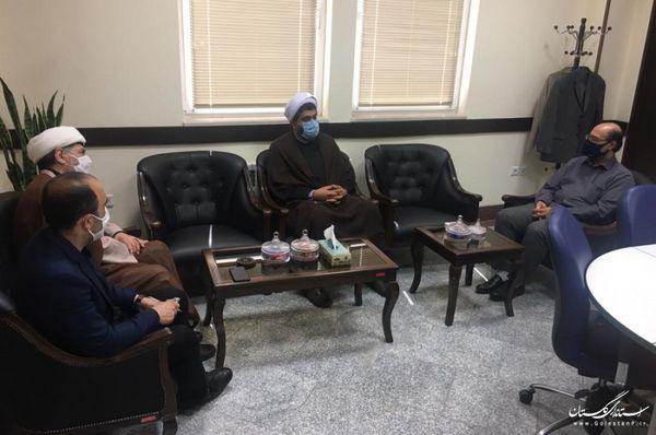 نشست مشترک مدیرعامل آب منطقه ای استان گلستان و مدیرکل اوقاف و امور خیریه گلستان