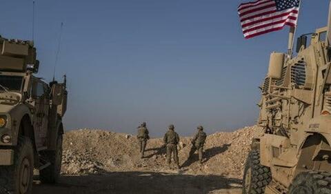 """فیلم/ رو در رو شدن ارتش سوریه و آمریکا در""""منبج"""""""