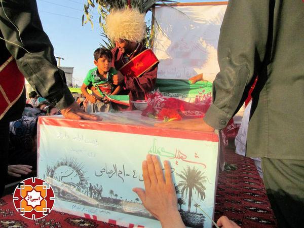 استقبال پرشور از شهدای غواص در روستای قرنجیکپورامان و اقدگش آق قلا