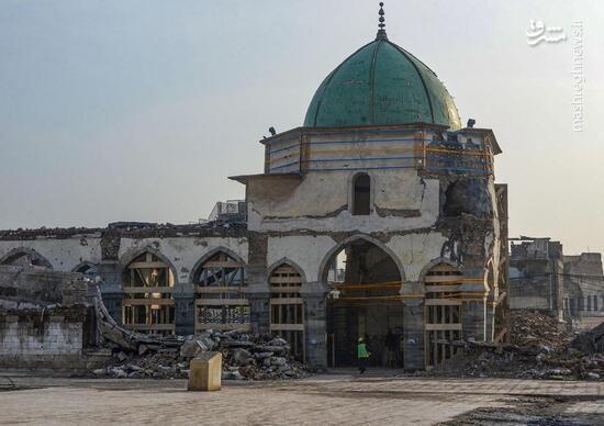 فیلم/ نخستین اذان مسجد جامع موصل بعد داعش