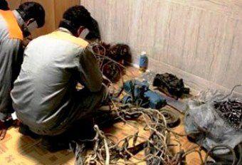 سارقان حرفه ای تاسیسات برق و مخابرات دستگیر شدند