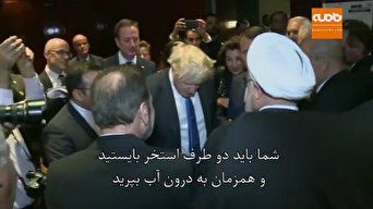 فیلم / صحبت های جانسون و روحانی در حاشیه نشست سازمان ملل