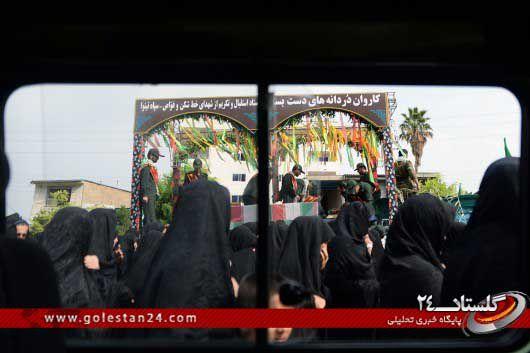 استقبال از شهدای غواص در استان گلستان