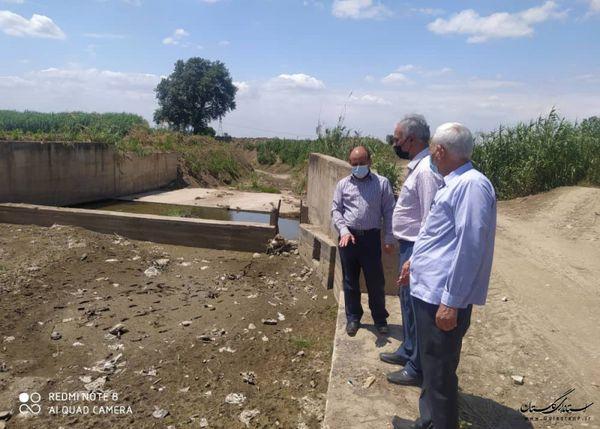 بازدید و بررسی عملیات تعمیر و بازسازی سدهای انحرافی و طرح های زودبازده شهرستان گنبدکاووس
