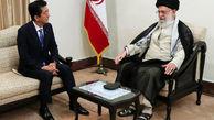 دیدار امام خامنه ای با نخستوزیر ژاپن + تصویر