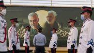 عکس/ رونمایی از یادمان سردار شهید قاسم سلیمانی در فرودگاه بغداد