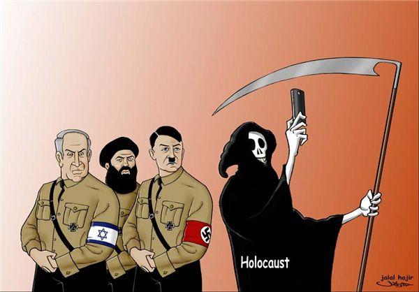 اکران کاریکاتورهای ضدصهیونسیتی در تهران+تصویر