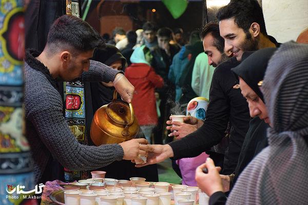 گزارش تصویری / شب یازدهم موکب جا ماندگان پیادهروی اربعین حسینی