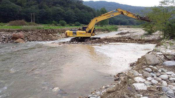 نقاط حادثه خیز رودخانههای رامیان ساماندهی شد