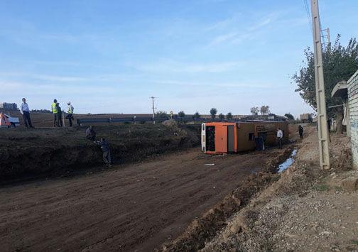 علت حادثه واژگونی اتوبوس در گلستان مشخص شد