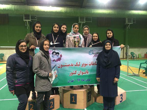 درخشش نماینده گلستان در لیگ برتر بدمینتون زنان