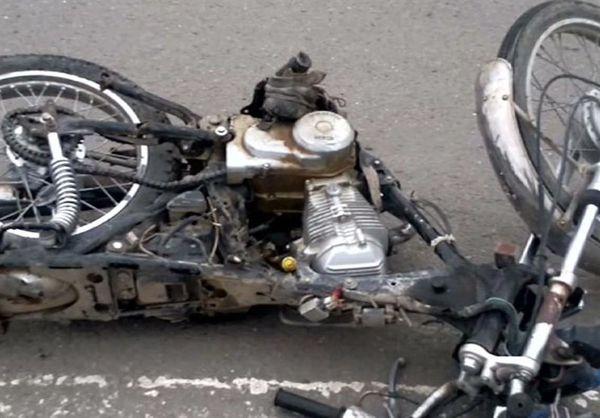 کشته شدن راننده موتورسیکلت در سانحه رانندگی