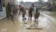 گزارش تصویری /نظافت خانه های مردم سیل زده اق قلا