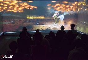 سومین شب اکران فیلم صحنه شهادت حضرت عباس (ع) در پارک شهر گرگان