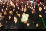 دانلود کلیپ رجز خوانی جانباز مدافع حرم علی اکبر فردی در مراسم وداع با شهید سید رضا طاهر