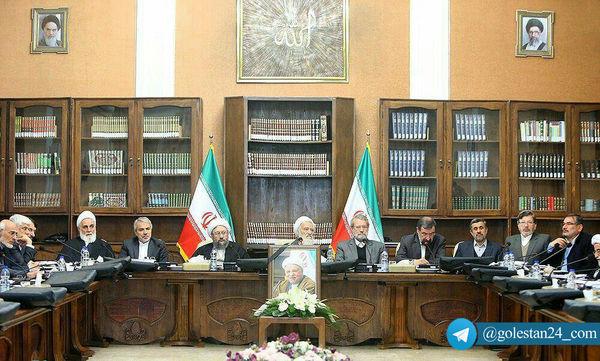 اولین جلسه ریاست آیتالله موحدی کرمانی در مجمع تشخیص مصلحت نظام+عکس