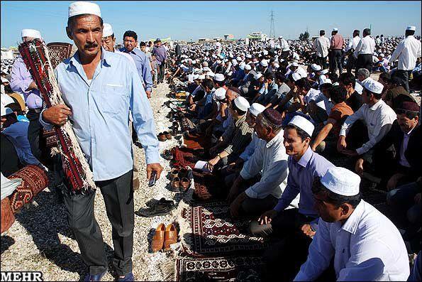 آداب اهل سنت در عید قربان/ترکمن صحرا در عید بزرگ خود سیاهپوش است