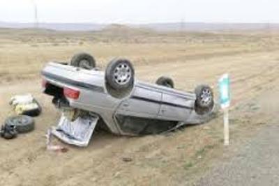 واژگونی خودرو در جاده گنبد