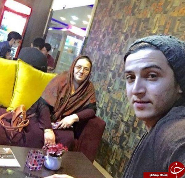سلفی سردار آزمون با مادرش+عکس