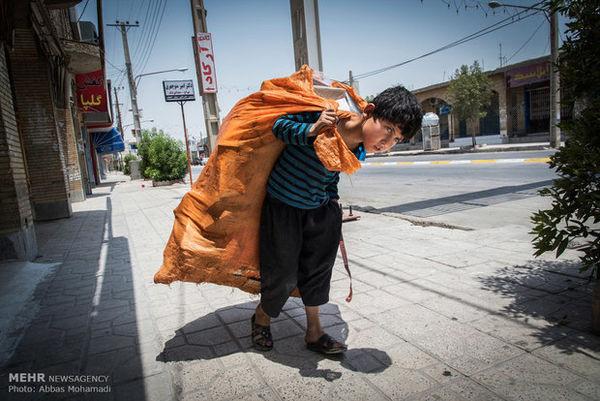 افزایش کودکان کار در خیابان های گلستان