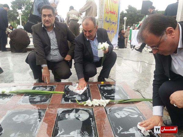 تصاویر/ تجدیدبیعت کارکنان دستگاه قضایی استان گلستان با آرمان های شهدا