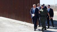 فیلم/ بازدید ترامپ از دیوار مرزی با مکزیک