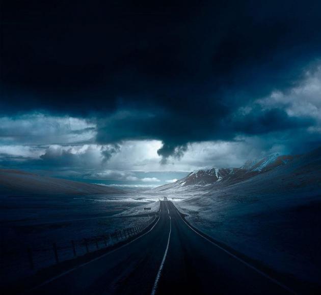 جاده زیبا در نروژ