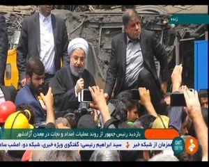 حضور تبلیغاتی روحانی در معدن یورت و همراه همه جانبه رسانهملی با دولت