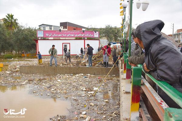 آخرین وضعیت مناطق سیل زده آق قلا