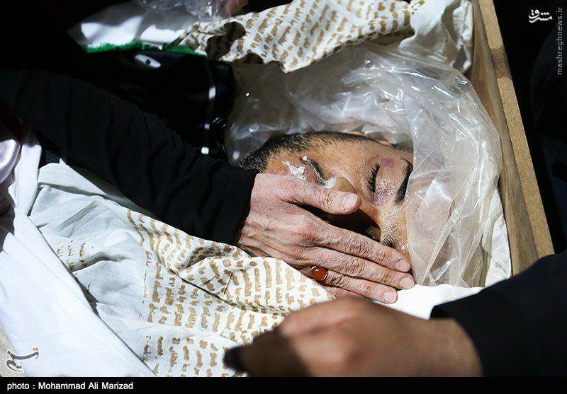پیکر شهید مدافع حرم عبدالله باقری