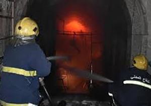 آتش سوزی انبار ضایعات در گرگان