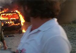 انفجار خودرویی در آذربایجان توسط یک ایرانی+عکس