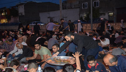 افطاری ساده خیابانی در گرگان