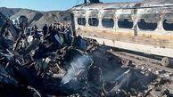 فیلم/ آتش سوزی مرگبار در قطار مسافربری