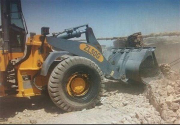 دیوارکشیهای غیرمجاز در اراضی زراعی شهر گرگان تخریب شد