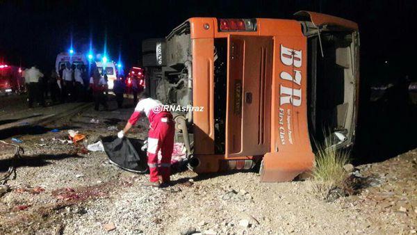واژگونی اتوبوس دانش آموزان هرمزگانی/۱۱نفر کشته شدند/اسامی مجروحان